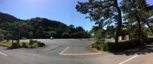 キャンプ黄金崎駐車場