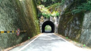 雨畑のトンネル出口
