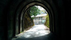 雨畑のトンネル