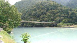 雨畑地区の吊橋