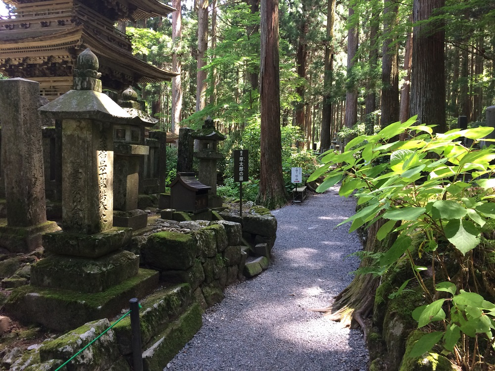 霊犬早太郎墓の道