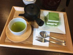 きみくら抹茶ティラミスと緑茶セット