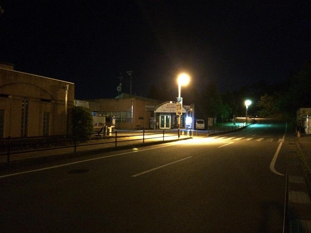 夜のフルーツ公園売店付近
