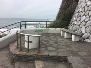 御前崎灯台犬の足跡の場所