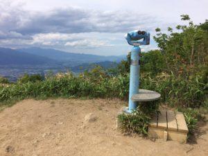 陣馬形山展望台の双眼鏡