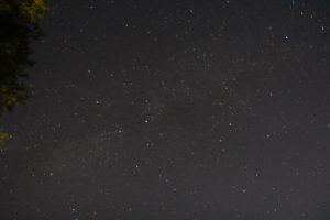 だるま山高原キャンプ場からの星空