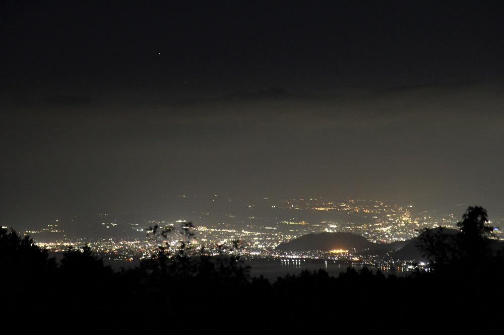 だるま山高原キャンプ場の夜景