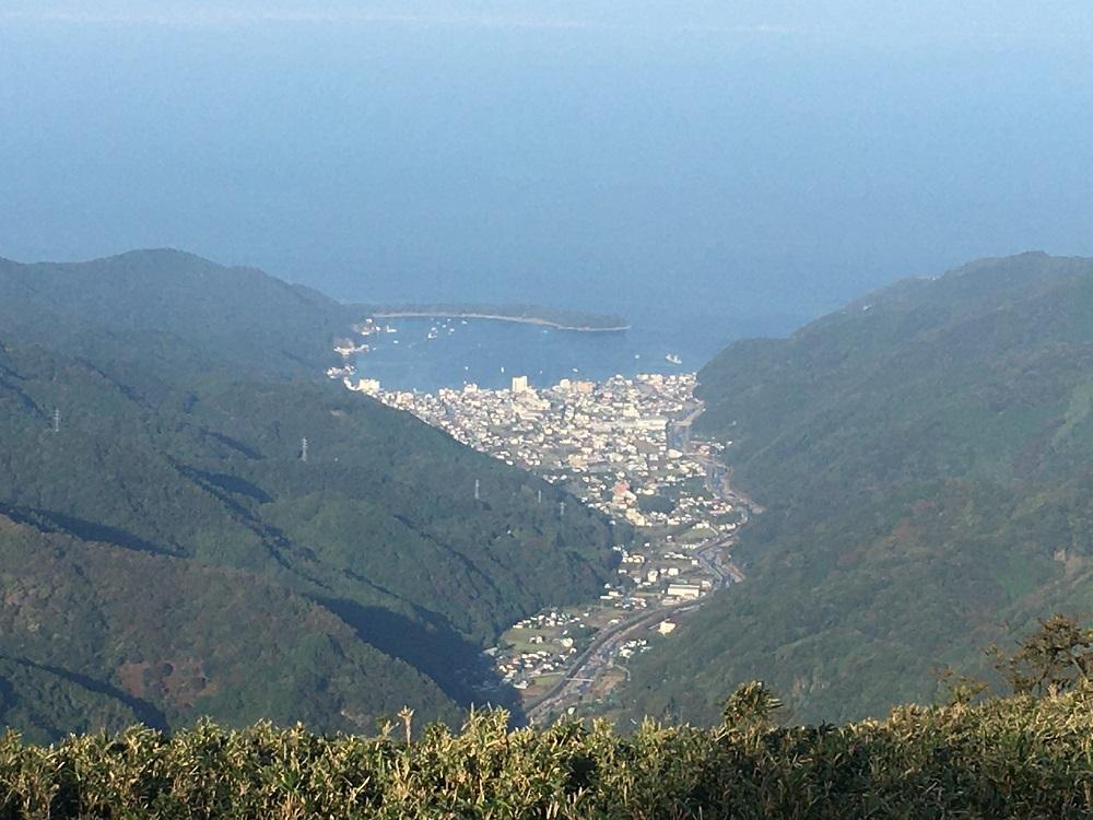 達磨山から見る戸田の町並み