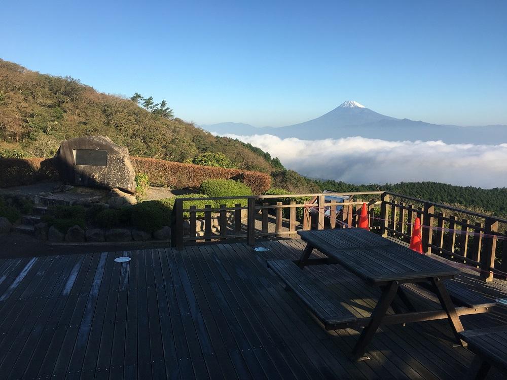 達磨山高原レストハウスからの富士山雲海