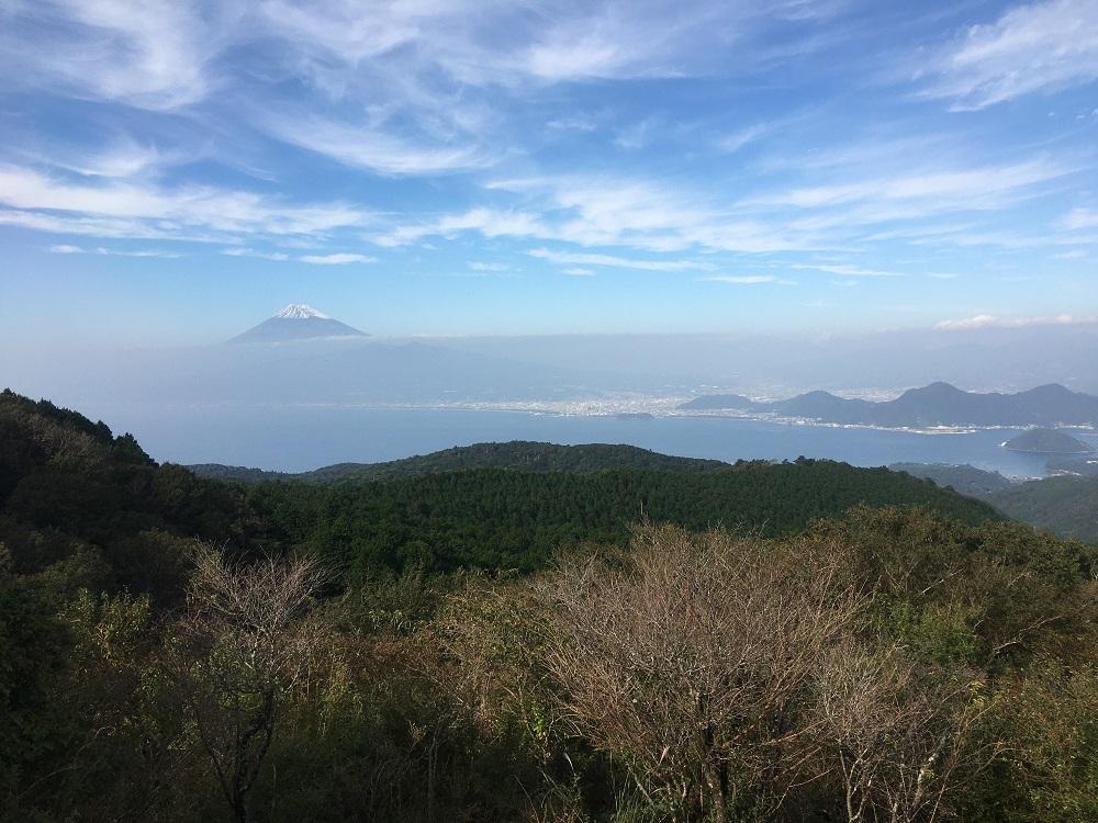 達磨山高原レストハウスからの富士山