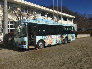 ゆるキャン町営ラッピングバス