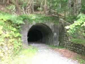 アプトいちしろキャンプ場トンネル