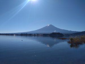 河口湖大石公園からの富士山