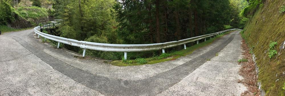 大柳川渓流公園 キャンプ場へ続く道