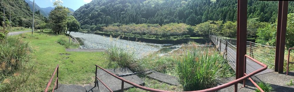 佐野川キャンプ場吊橋